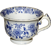 Early 19th Century Blue and White Transferware Cup