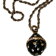 Vintage Necklace with Egg Pendant