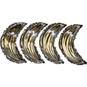 Set of 4 Sterling Footed Dominick & Haff Bone Dishes