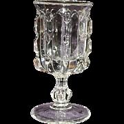 EAPG Broken Column Goblet Early American Pattern Glass