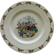 Vintage Royal Doulton Bunnykins Plate