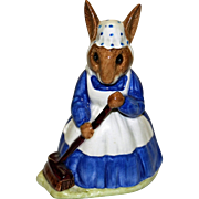 "Royal Doulton Mrs. Bunnykins ""Clean Sweep"" D86"