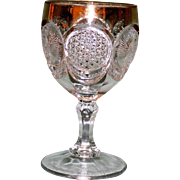 EAPG Cane & Star Medallion Goblet - Hard to Find