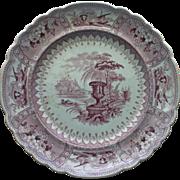 Mayer Mulberry Canova Transferware Plate c. 1830