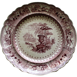 Mulberry Canova Plate by Thomas Mayer, Staffordshire Transferware 1826-1838