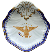 Vintage Patriotic Dish with American Eagle and Stars