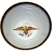 Large Prestigious Bowl with American Eagles