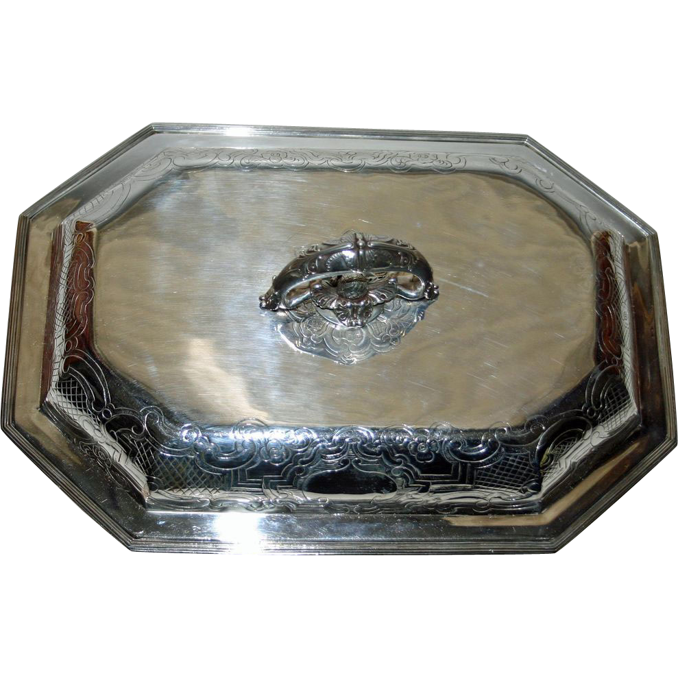 1795 Georgian Silver Sterling Covered Dish by John Edwards