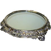 "Antique 18"" Silver Plate English Plateau, Registration Mark - Stunning"