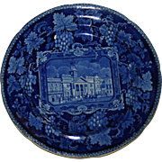 Enoch Wood Historical Blue St. Phllips Chapel English Transferware Plate c.1820