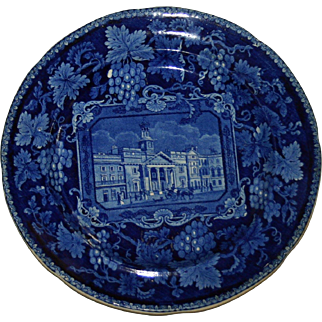 Enoch Wood Historical Blue St. Phillips Chapel English Transferware Plate c.1820