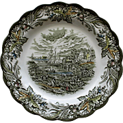 Vintage Plate: Fish Market Toronto by Ridgway, Staffordshire, England