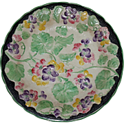 Antique British Anchor  Platter with Pansies
