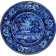 Ralph Hall Llanarth Court Wales Historical Blue Transfer Plate c. 1825