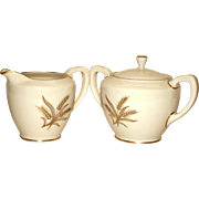 Lenox Harvest Sugar and Creamer, Like New