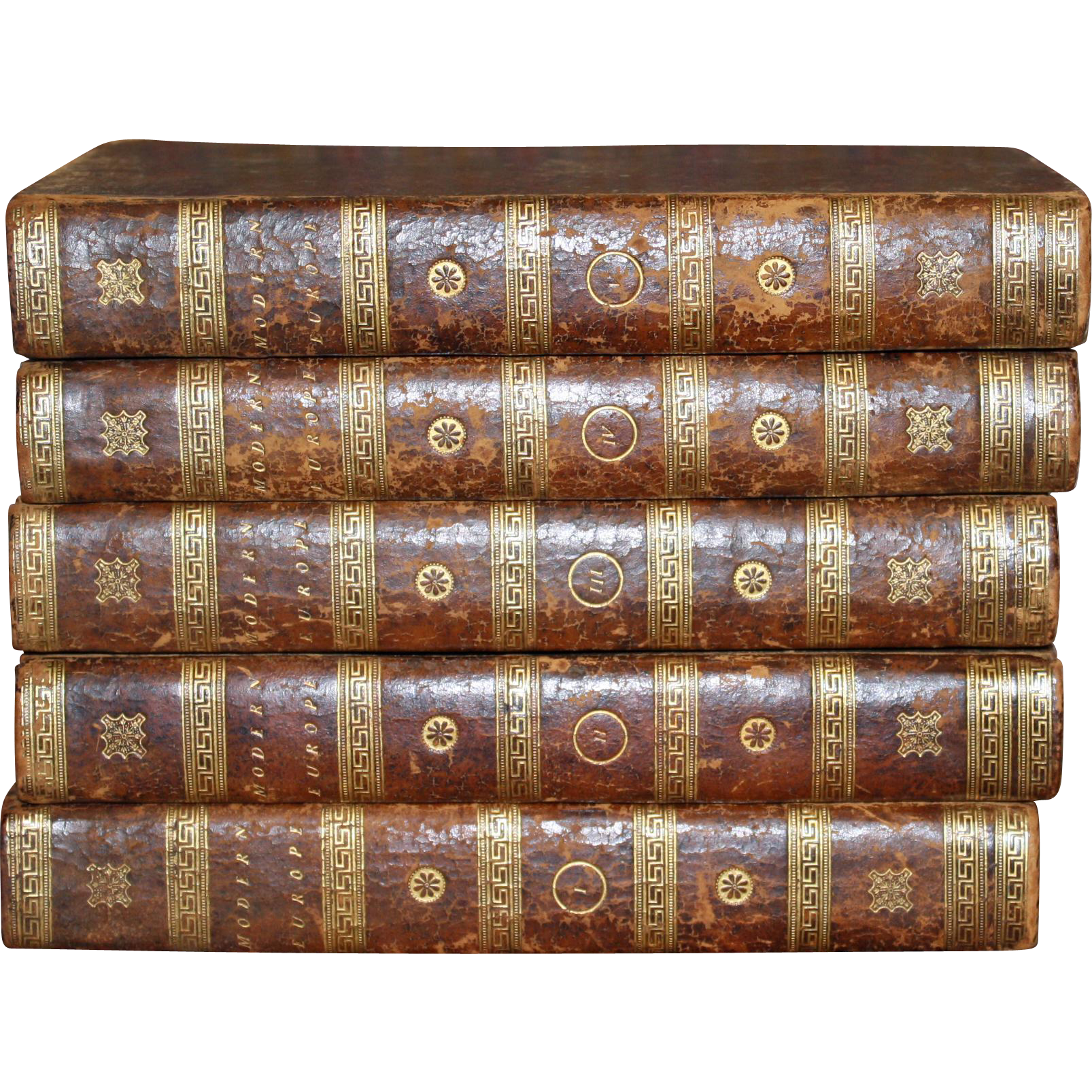 History of Modern Europe in 5 Volumes, 1805, Leather Bound