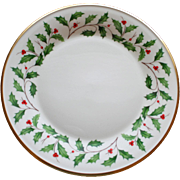 Lenox Holiday Dinner Plate 10.75 in. Holly and Berries, 8 Available