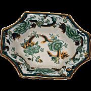 Masons\ Ironstone, Chartreuse Pattern small Dish