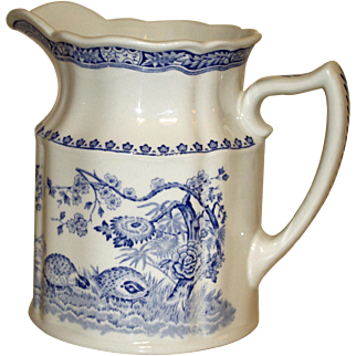Vintage Mason's Blue and White Pitcher
