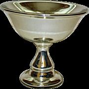 Antique Mercury Glass Compote