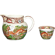 W. R. Midwinter Ltd. Rural England Pitcher and Cup