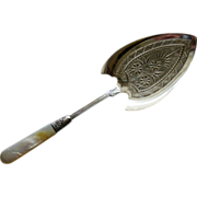 Antique Rogers & Bro. A1 Silverplate and Mother of Pearl  Server