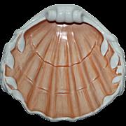 Large Vintage Mottahedeh Shell Shaped Dish