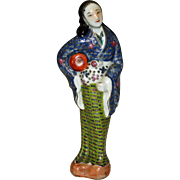 Antique Chinese Woman Figurine, Beautiful Colors