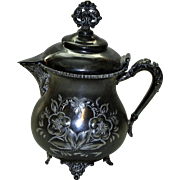 Nineteenth Century Silver Plate Pitcher by New Amsterdam Silver Co.