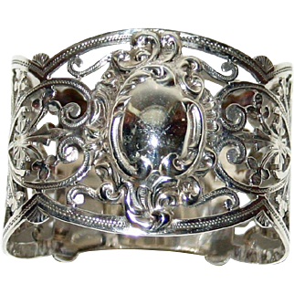 1903 Antique English Hallmarked Sterling Napkin Ring, by A Clark Manufacturing Co.