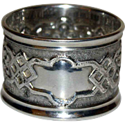 Sterling English Napkin Ring 1895 Full Hallmarks
