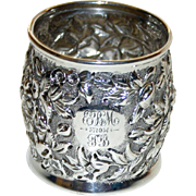Antique Repousse Sterling Napkin Ring