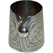Antique Coin Silver Napkin Ring, Unusual Shape