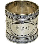 Antique American Sterling Napkin Ring by Wood & Hughes