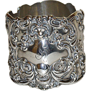 Magnificent Gorham Antique Sterling Napkin Ring
