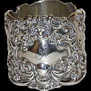 Magnificent Gorham Antique Sterling Napkin Ring