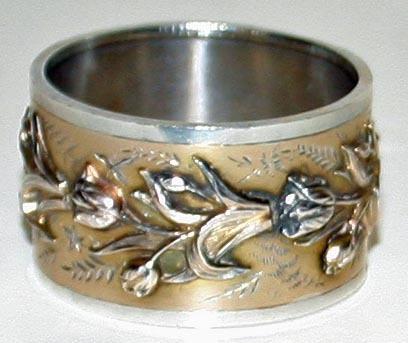antique sterling glasgow scotland napkin ring 1884