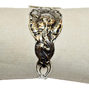 Antique Unger American Sterling Art Nouveau Figural Napkin Ring