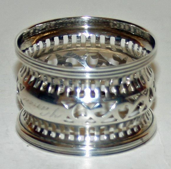Vintage Webster American Sterling Napkin Ring - Name Vance