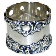 Antique Whiting and Davis American Sterling Napkin Ring
