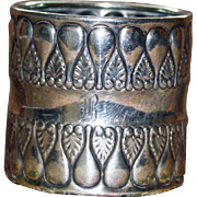 Gorham Antique (1896) Sterling Napkin Ring - Stunning
