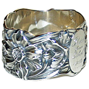 Shiebler Antique Sterling Napkin Ring 1903