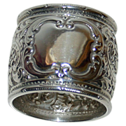 Sterling 1907 Hallmarked Stunning Sheffield Napkin Ring by Atkin