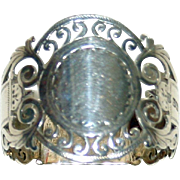 Hallmarked Sheffield Sterling Napkin Ring, 1910