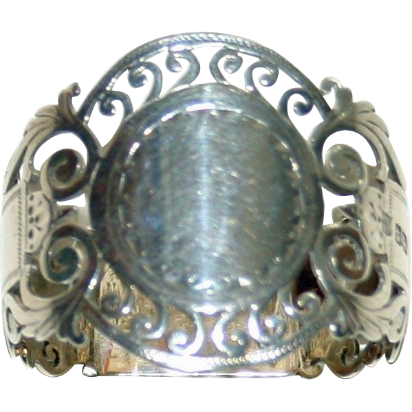 1910 Hallmarked Sheffield Sterling Napkin Ring, Reticulated