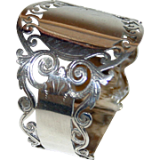 Antique English Sterling Napkin Ring - Cooper Bros., 1913, hallmarked