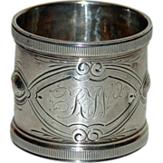 Antique Sterling Napkin Ring by Wood and Hughes