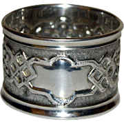 1895 Sterling English Hallmarked Repousse Napkin Ring