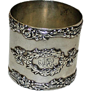 Antique Sterling Silver American Napkin Ring, Classical Design