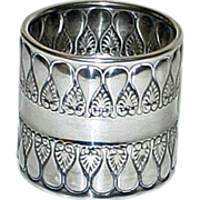 Stunning Gorham Antique (1896) American Sterling Napkin Ring